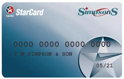 simpsons starcard image